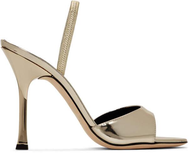 Giuseppe Zanotti Gold Patent Kellen Sandals