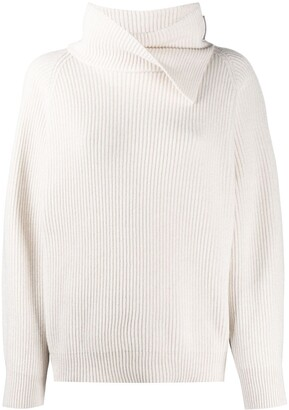 Brunello Cucinelli Draped Collar Jumper