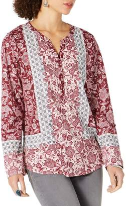 Style&Co. Style & Co. Petite Floral-Print Cotton-Blend Blouse
