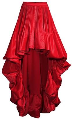 Flor Et. Al Sabinas High-Low Pleated Skirt
