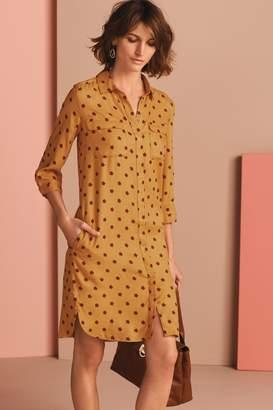 Next Womens Ochre Shirt Dress - Yellow