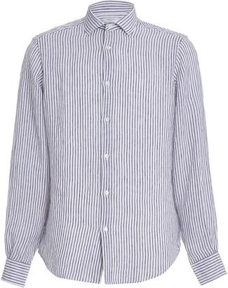 Boglioli Striped Linen Button-Up Shirt