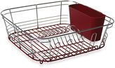 Bed Bath & Beyond Omni Small Chrome Dipped Dish Drainer in Red