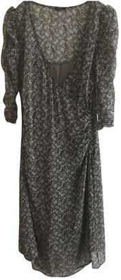 Ikks Grey Silk Dress for Women
