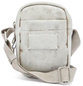 Maison Margiela Bianchetto Painted Faux-suede Camera Bag - White
