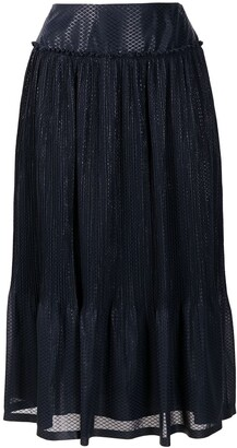 See by Chloe Ruffle-Trim Midi Skirt