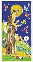 Amalfi by Rangoni Hand Painted Decorative St. Francis Tile - Handmade in