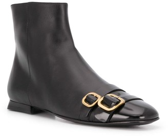 Tod's Buckled Toe Ankle Boots