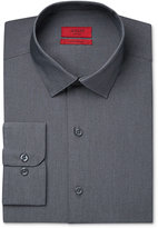 Alfani Men's Fitted Performance Dark Gray White Micro-Stripe Dress Shirt, Only at Macy's