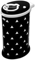 Ubbi® Triangles Diaper Pail in Black/White