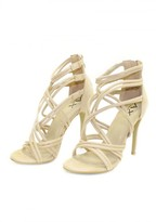 AX Paris Cream Strappy Stiletto Heel