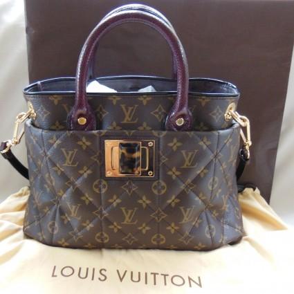 Louis Vuitton excellent (EX MM Monogram Etoile Exotique Python Double Handle Handbag Tote Bag - N90311