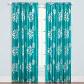 Zazzle Rod Pocket 84-Inch Window Curtain Panel in Aqua