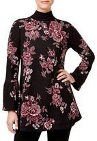 Style And Co. Floral Cotton Sweater