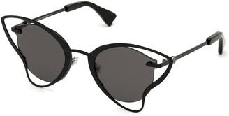 Moncler Semi-Rimless Cutout Butterfly Sunglasses