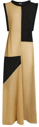 Oseree Two-Tone Maxi Dress
