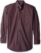 Wrangler Men's George Strait Wine One Pocket Long Sleeve Shirt