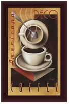 "KitchenArt ""Americana Deco Coffee"" Framed Canvas Art By Michael L. Kungl"