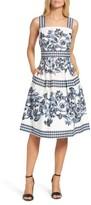 Vince Camuto Petite Women's Fit & Flare Dress
