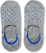 Pantherella Polka-dot Stretch-egyptian Cotton No-show Socks