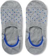 Pantherella Polka-Dot Stretch-Egyptian Cotton No-Show Socks