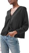 Topshop Women's Stripe Jacquard Blouse