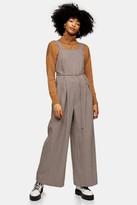 Topshop Mini Check Print Trouser Pinafore