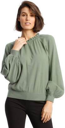 Piper Sweater With Ruffle Neck And Ballon Sleeve