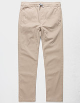 Charles And A Half Open Bottom Dark Khaki Boys Jogger Pants