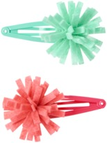 Crazy 8 Pom-Pom Barrettes 2-Pack