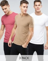 Asos 3 Pack Muscle Fit T-Shirt SAVE
