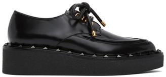 Valentino Black Garavani Rockstud Platform Oxfords