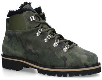 Yves Salomon Shearling Camouflage Boots