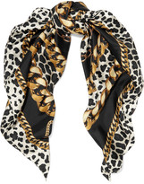 Marc Jacobs Printed Silk-twill Scarf - Black