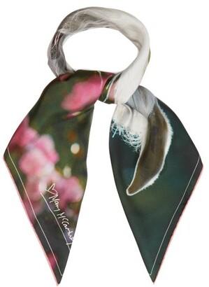 Mary Mccartney - Feel The Breeze-print Silk Scarf - Womens - Pink