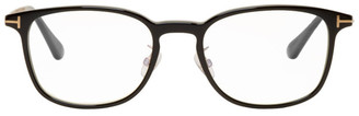 Tom Ford Black Blue Block Square Glasses