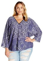 Single Dress Women's Plus-Size Printed Butterfly Top