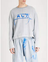 A-Cold-Wall* A_COLD_WALL Logo-print cotton-jersey sweatshirt