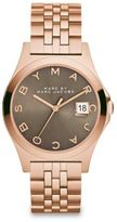 Marc by Marc Jacobs Henry Slim Rose Goldtone Stainless Steel Bracelet Watch/Dirty Martini