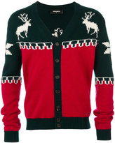 DSQUARED2 deer V-neck cardigan - men - Polyamide/Wool/Alpaca - M
