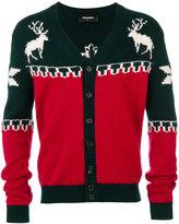 DSQUARED2 deer V-neck cardigan - men - Polyamide/Wool/Alpaca - S