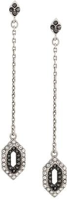 Karl Lagerfeld Paris Angular Pave Drop Earrings