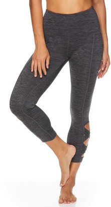 Gaiam Women's Om High-Waisted Lotus Capri Leggings
