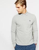 Polo Ralph Lauren Long Sleeve Polo Shirt In Custom Fit