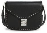 MCM Patricia Studded Outline Leather Shoulder Bag - Black
