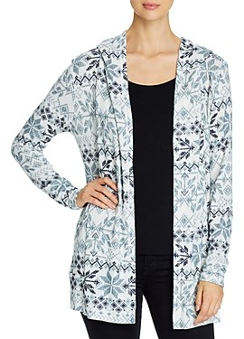 Bobeau B Collection by Noe Cozy Hooded Cardigan