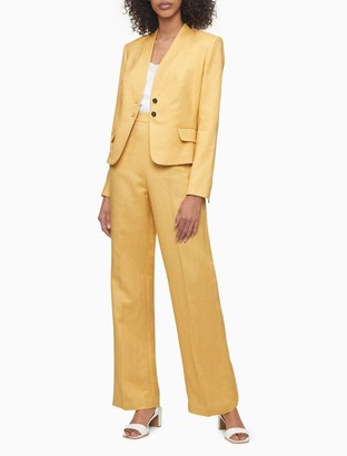 Calvin Klein Solid 2-Button Suit Jacket