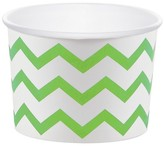 Creative Converting Fresh Lime Chevron Treat Cups - 6 Pack
