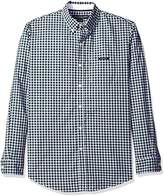 U.S. Polo Assn. Men's Long Sleeve Dobby Check Button Down Sport Shirt