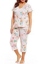 Miss Elaine Plus Floral Capri Pajamas